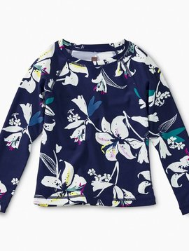 Tea Collection Tropical Lillies Rash Guard