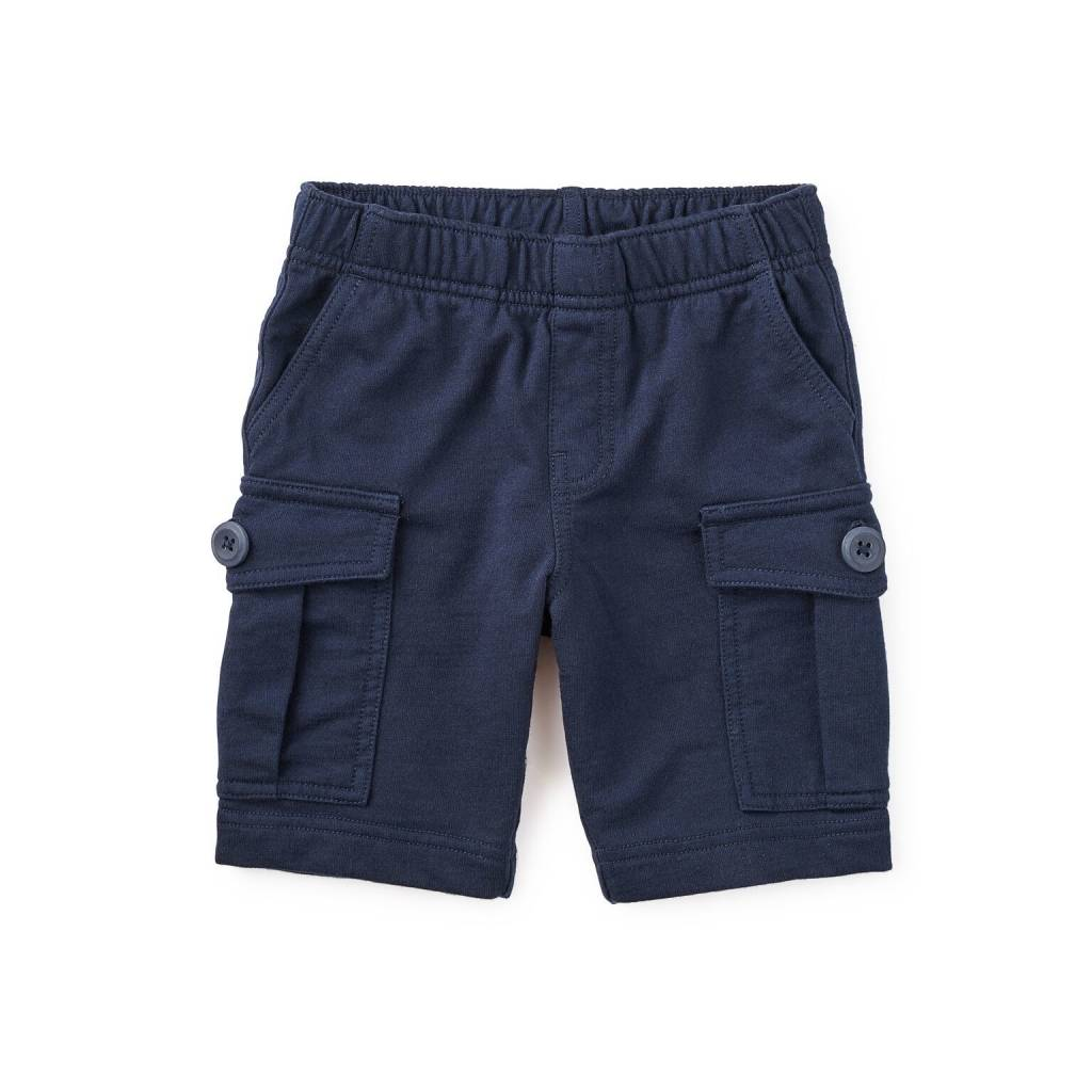 Tea Collection Heritage Blue French Terry Cargo Short