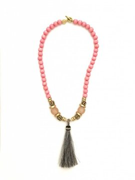 Anchor Beads Little Indian Horse Hair Tassel Necklace