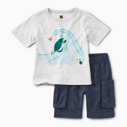 Tea Collection Surf's Up Baby Outift