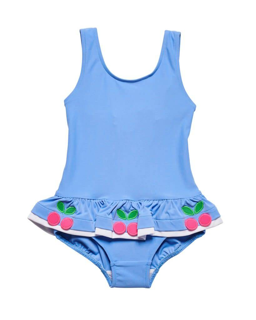 Florence Eiseman Blue Cherries Swimsuit