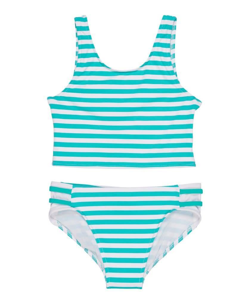 Florence Eiseman Jade Stripe Swimsuit