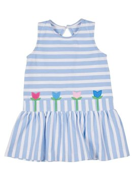 Florence Eiseman Tulip Stripe Knit Dress