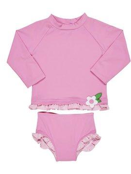 Florence Eiseman Pink Petals Suit with Rashguard