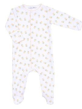 magnolia baby Tiny Bee Printed Zip Footie