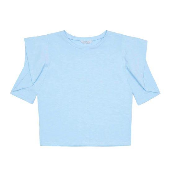 Habitual Blue Megan Puff Sleeve Top