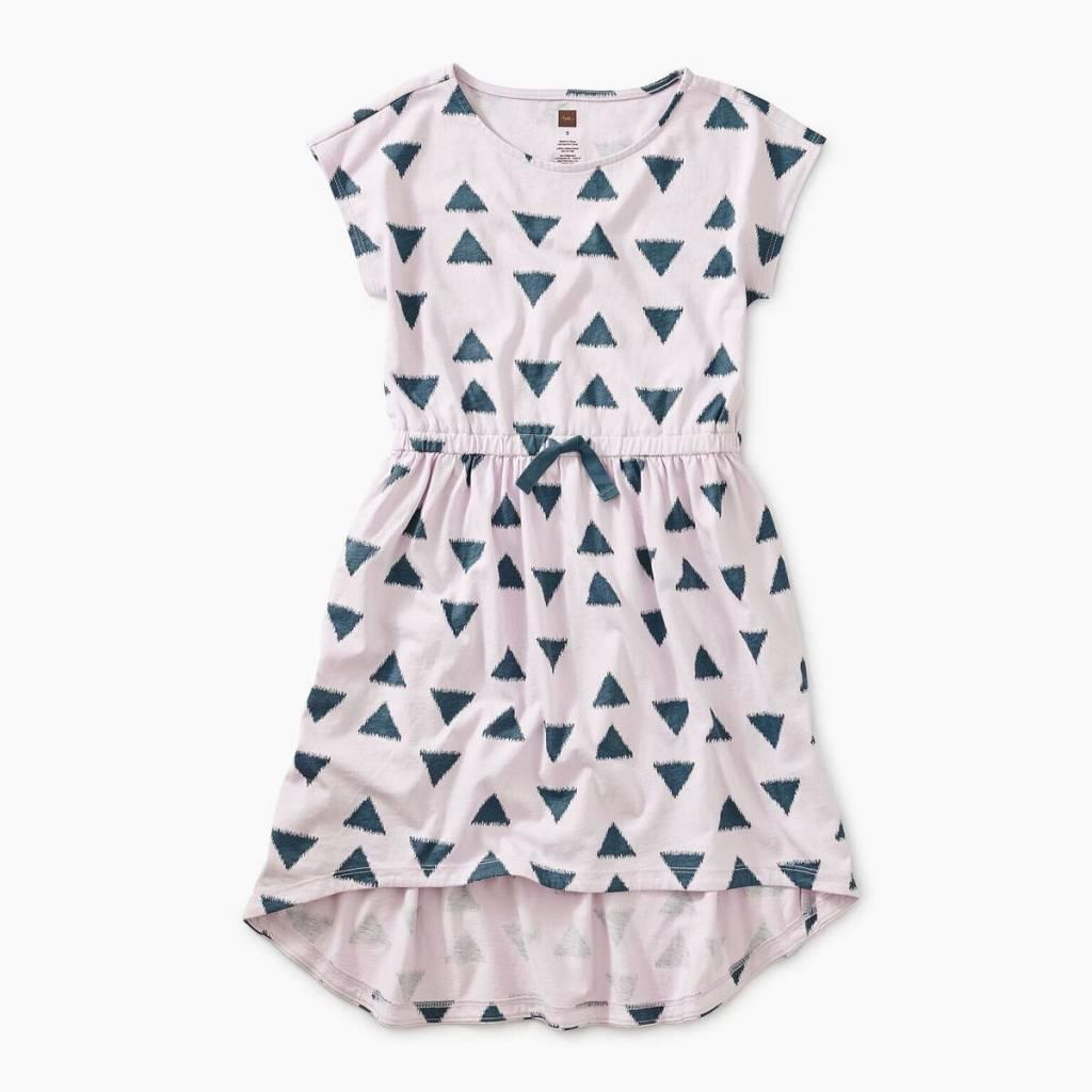 Tea Collection Ikat Triangles Hi Lo Tie Waist Dress