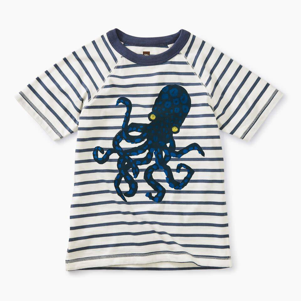Tea Collection Octopus Striped Graphic Tee
