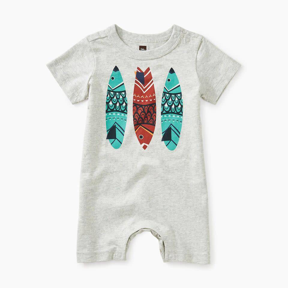 Tea Collection Fish Stick Graphic Romper