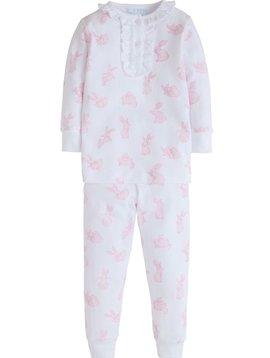 Little English Pink Bunny Printed Pajamas