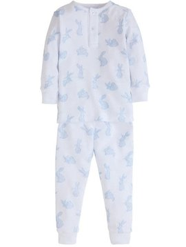 Little English Blue Bunny Printed Pajamas