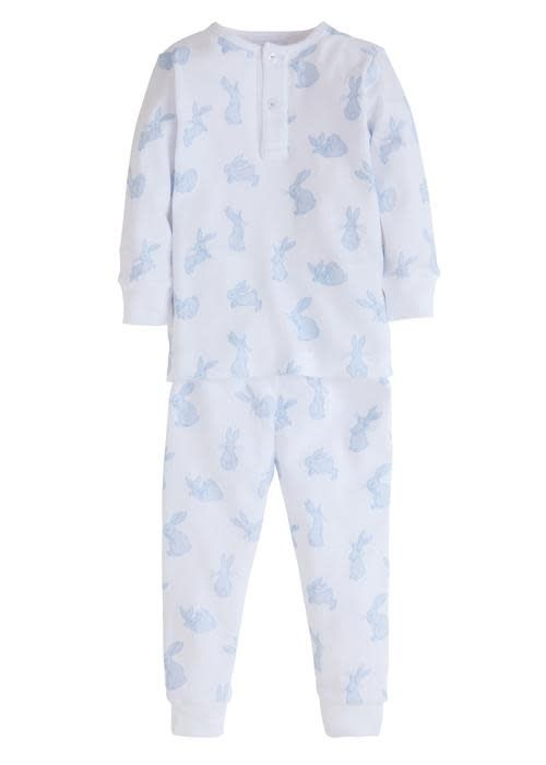 Little English Blue Bunny Printed Pajamas