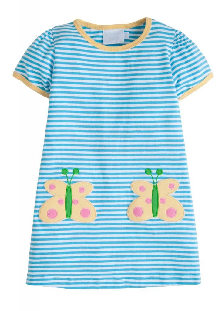 Little English Butterfly T-Shirt Dress
