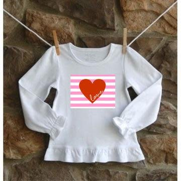Little Hoot Ruffle Love Tee