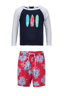 Snapper Rock Hibiscus Surfboard LS Set