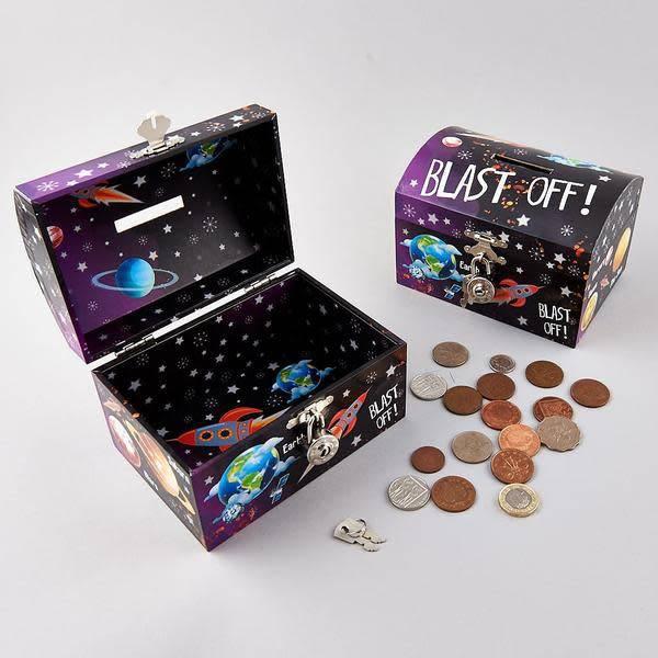Floss & Rock Rocket Money Box w/ Lock