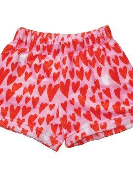 Iscream Lovin Hearts Plush Shorts