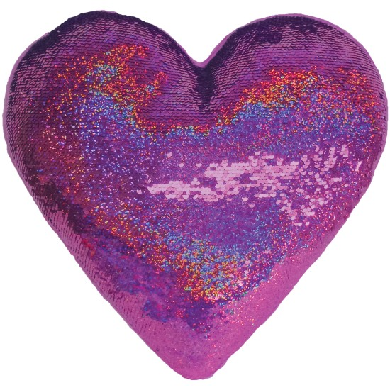 Iscream Sleeping Heart Reversible Sequin Pillow
