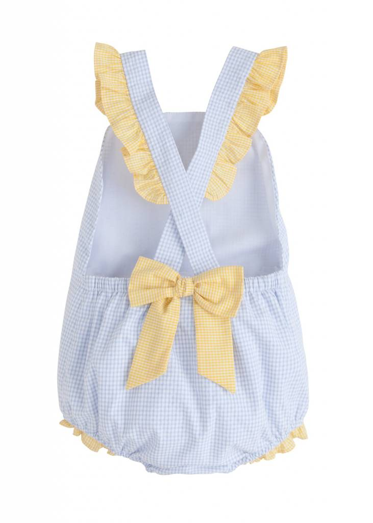 Little English Yellow Bow Back Swimsuit