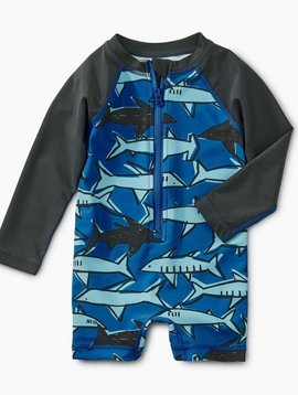 Tea Collection School of Sharks Shortie Rash Guard