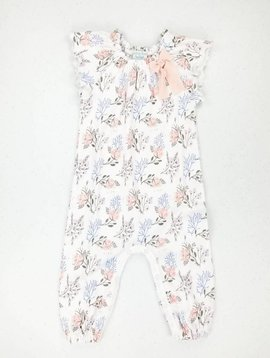 Feather Baby Ruched Romper