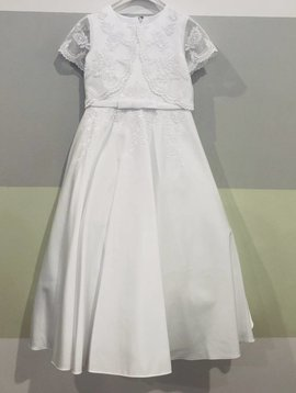 Lace Shawl Communion Dress