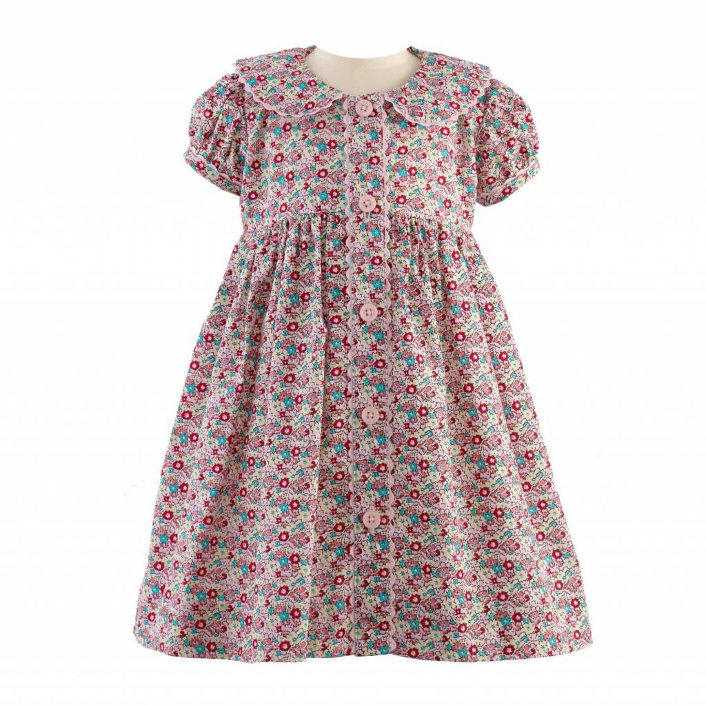 Rachel Riley Ditsy Floral Button Front Dress