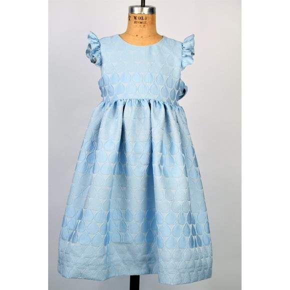 Maggie Breen Aqua Raindrops Dress