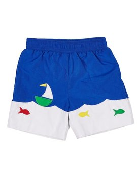 Florence Eiseman Boat and Fish Swim Trunk
