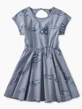 Tea Collection Ikat Striped Keyhole Dress