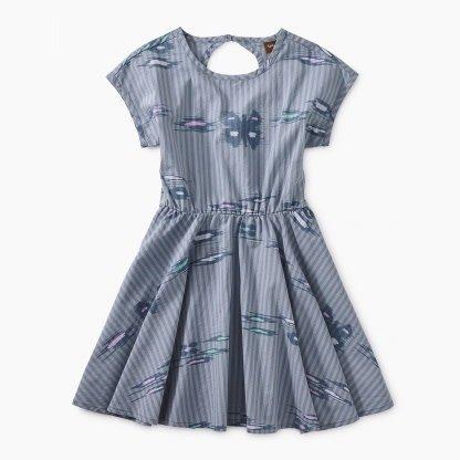 Tea Collection Ikat Striped Keyhole Dress