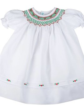Feltman Brothers Short Sleeve Holiday Bishop Dress