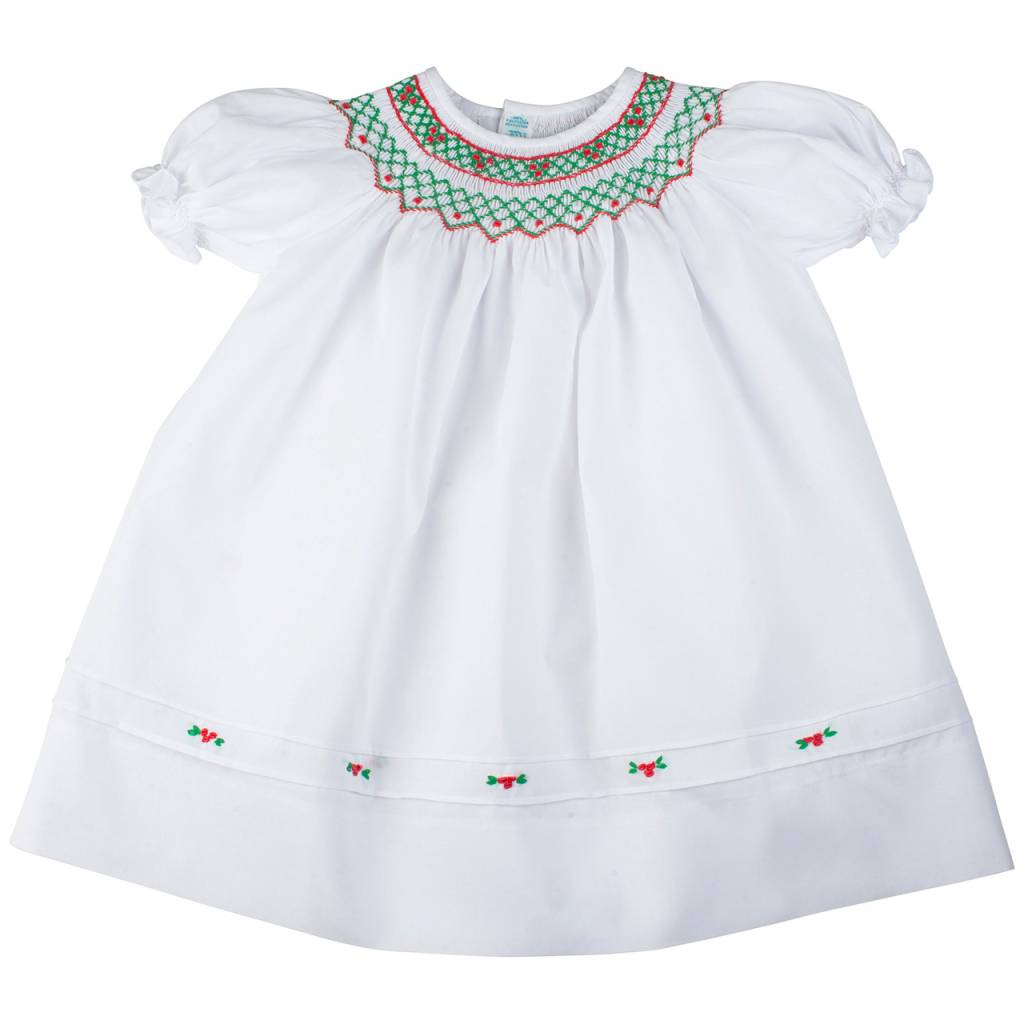 Feltman Brothers Short Sleeve Holiday Bishop Dress