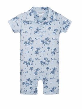 Feather Baby Hawaii Collared Romper