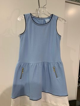Bella Bliss Blue Color Block Dress