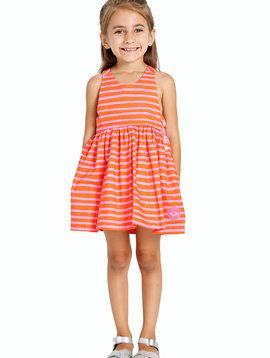 Smiling Button Fruit Punch Dress
