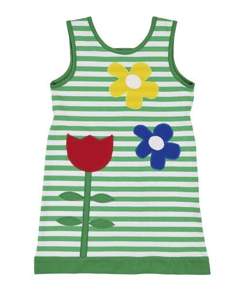 3b0362aca Florence Eiseman Striped Dress with Tulips - Polliwogs Children's ...