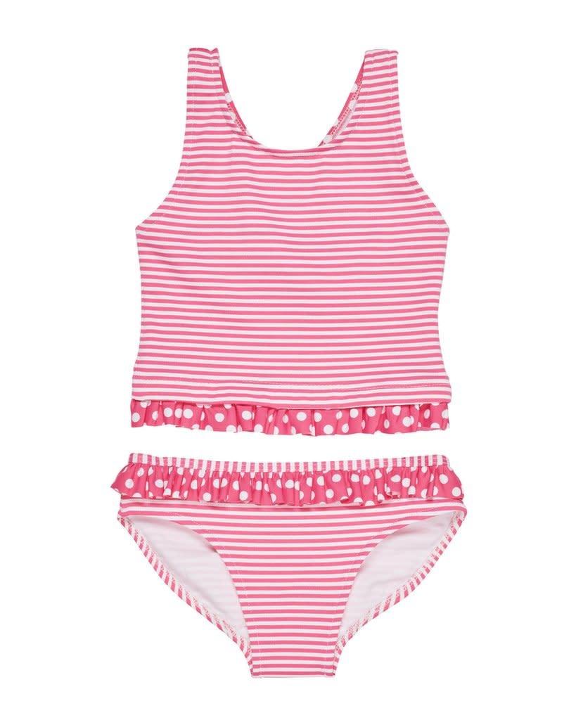 Florence Eiseman Honeysuckle/White Stripe Bathing Suit