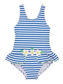 Florence Eiseman Royal Stripe Daisy Swimsuit