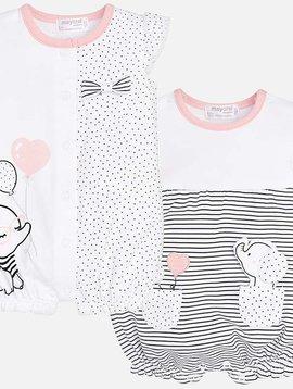 Mayoral Pink Short Pajama Set