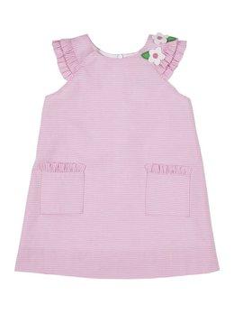 Florence Eiseman Pink Stripe Ruffle Dress