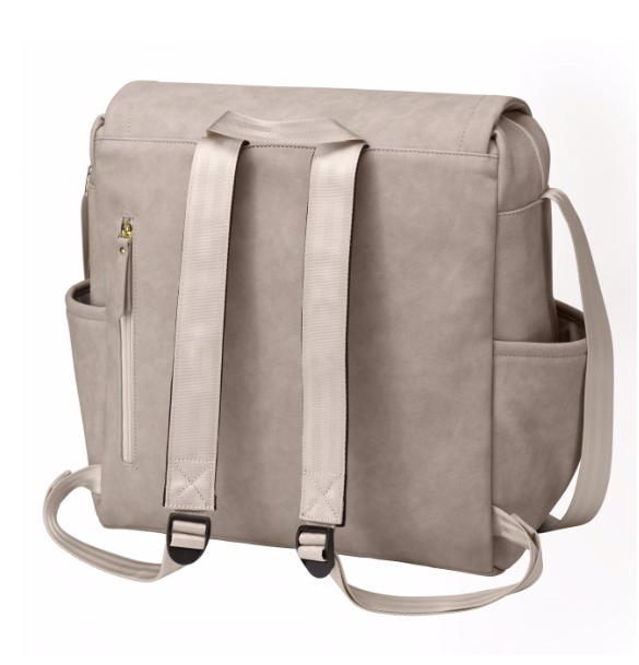 Petunia Pickle Bottom Grey Matte Boxy Backpack
