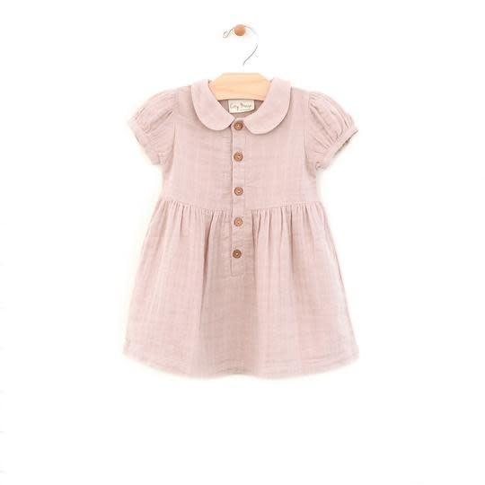 City Mouse Pink Button Dress
