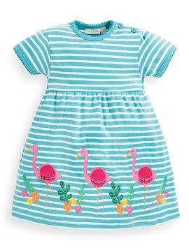JoJo Maman Bebe Flamingo Applique Dress