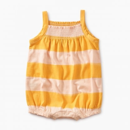 Tea Collection Painted Smocked Romper