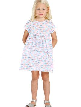 Smiling Button Summer House Sunrise Dress