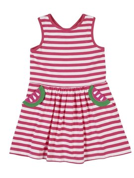 Florence Eiseman Fuchsia Stripe Watermelon  Dress