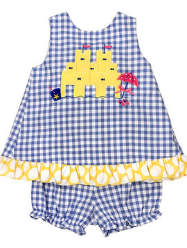 Bailey Boys Sandcastle Dress with Bloomer