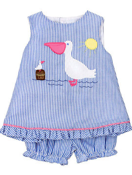 Bailey Boys Pelican Criss Crop with Bloomer