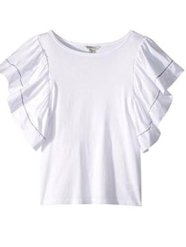 Habitual White Alala Flutter Sleeve Top